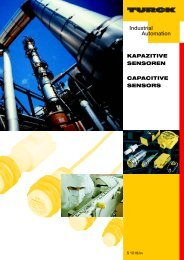 Kapazitive Sensoren / Capacitive Sensors - Hidroteka