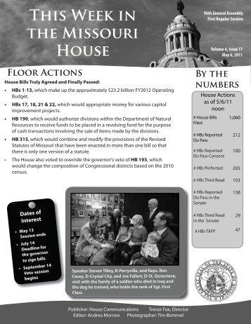 May 6, 2011 - Missouri House of Representatives