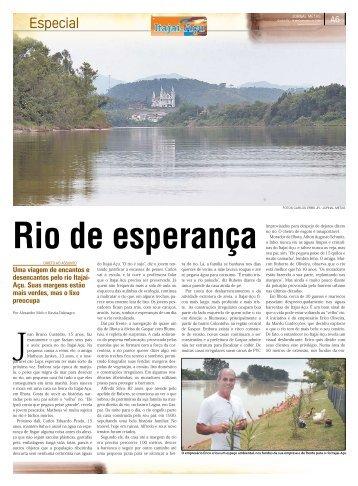 Uma viagem de encantos e desencantos pelo rio Itajaí ... - Adjori/SC