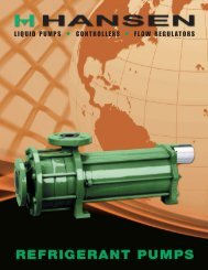 Hermetic Pump Brochure - Hansen Technologies