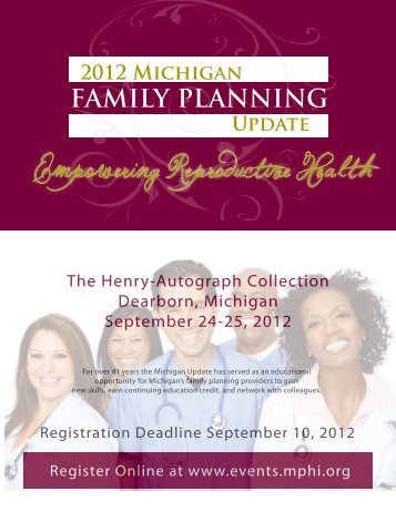 FAMILY PLANNING 2012 Michigan Update - Ungerboeck Software ...