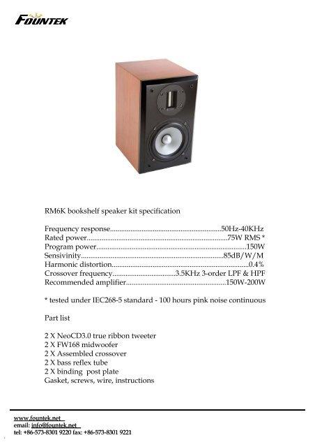Fountek RM6K Speaker Kit - Madisound