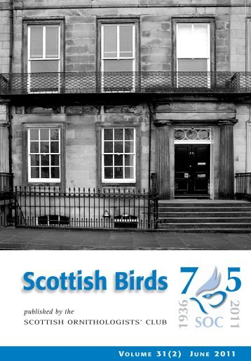 Scottish Birds 31:2 - The Scottish Ornithologists' Club