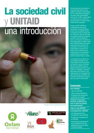 La sociedad civil y UNITAID: una introducción - Oxfam International