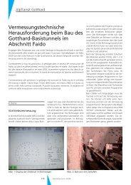Vermessungstechnische Herausforderung beim ... - Geomatik Schweiz