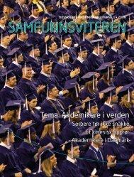 Samfunnsviteren 1/2009 - Samfunnsviterne