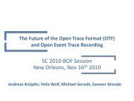 The Future of the Open Trace Format (OTF) and Open Event Trace ...