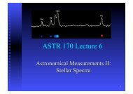 ASTR 170 Lecture 6