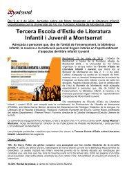 Tercera Escola d'Estiu de literatura Infantil i Juvenil a Montserrat