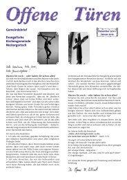 Evangelische Kirchengemeinde Neckargartach Gemeindebrief