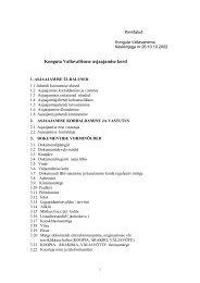 Konguta Vallavalitsuse asjaajamise kord - Konguta Vald