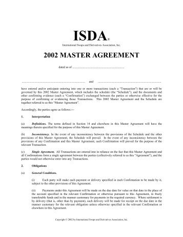 Commentary on the isda master agreementspub field fisher 2002 isda master agreement law economics center platinumwayz