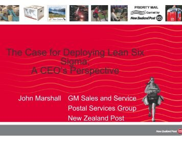 The Case for Deploying Lean Six Sigma: A CEO's Perspective