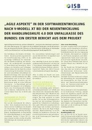 Neuentwicklung Handlungshilfe 4.0 der Unfallkasse des ... - ISB AG