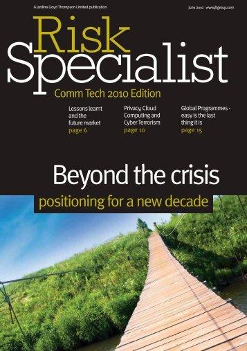 Risk Specialist Comm Tech 2010 Edition - JLT