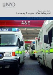 Department of Health - Improving Emergency Care in England