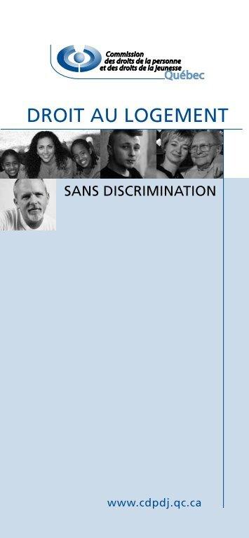 Droit au logement sans discrimination - CDPDJ