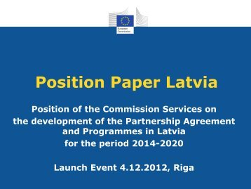 Position Paper Latvia - ES fondi