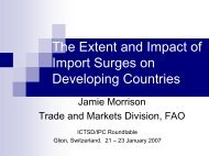 The Extent and Impact of Import Surges on Developing Countries