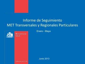 Informe Metas Transversales y Regionales particulares