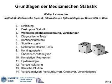 Wahrscheinlichkeitsrechnung, Verteilungen - Institut für ...