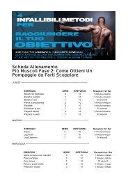 Scheda Allenamento Più Muscoli Fase 2: Come ... - Ultimate Italia