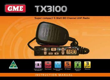 INSTRUCTION MANUAL Super compact 5 Watt 80 Channel ... - GME