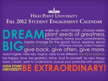 Engagement Calendar - High Point University