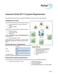 Portal 2011.3 Installation Overview and System ... - Casewise