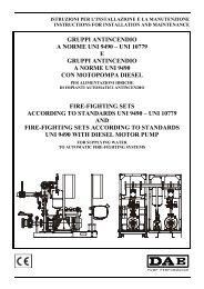 GRUPPI ANTINCENDIO A NORME UNI 9490 – UNI 10779 E ...
