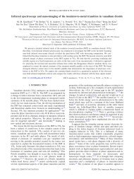 Infrared spectroscopy and nano-imaging of the insulator-to-metal ...