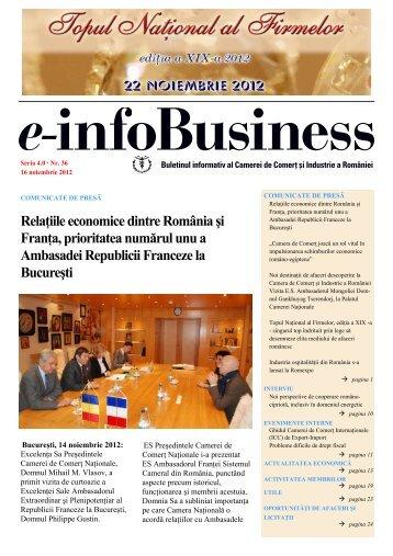 e-infoBusiness nr. 36/16.11.2012 - Camera de Comert si Industrie a ...