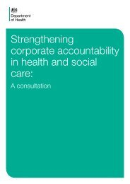 Strengthening corporate accountability in health and social ... - Gov.uk