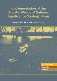 implementation of the aquatic Weeds of national ... - Weeds Australia