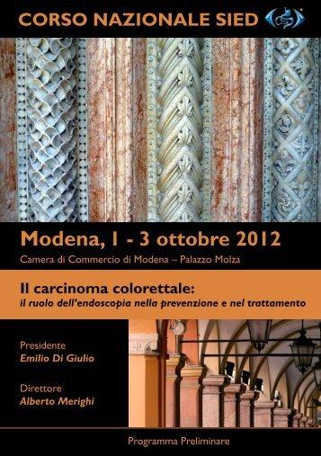 Modena, 1 - 3 ottobre 2012 - Policlinico di Modena