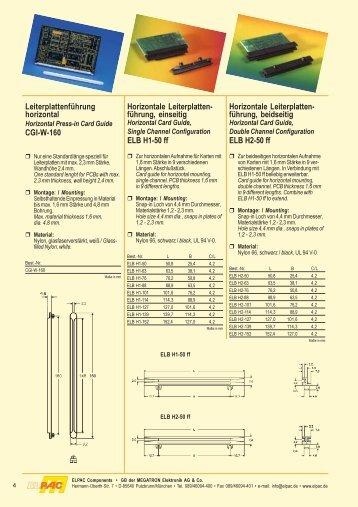 Kunststoffkleinteile 3 - Elpac Components und Verbindungstechnik