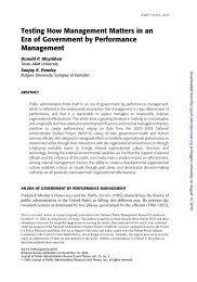Testing How Management Matters in an Era of Government ... - ppmrn