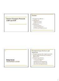 Internet Transport Protocols UDP and TCP
