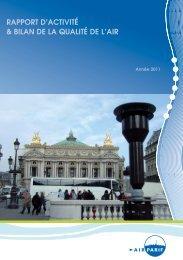 Rapport d'activité et bilan de la qualité de l'air en 2011 - Airparif