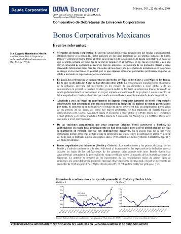 Bonos Corporativos Mexicanos - Bancomer.com