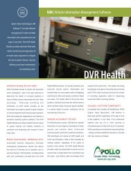 ViM Brochure DVR Health 2011 copy - Apollo Video Technology