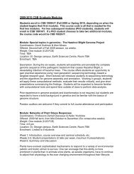 2009-2010 CSB Graduate Modules - the Department of Cell ...