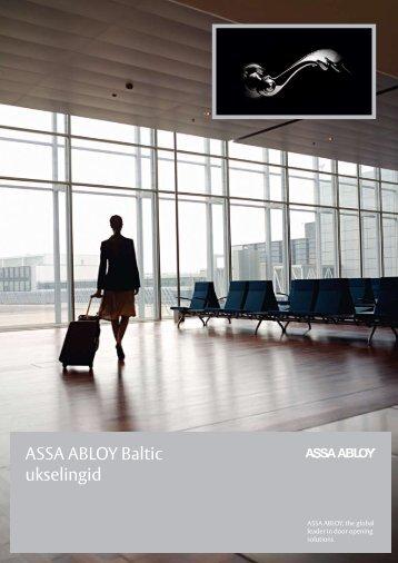 Tutvu uue ASSA ABLOY Baltic linkide kataloogiga siin!