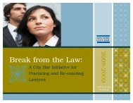 Break from the Law: - New York City Bar Association
