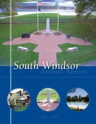 final 2003 sw annual report - Town of South Windsor