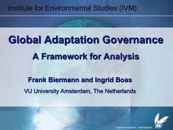 Global Adaptation Governance - Research Group Climate Change ...