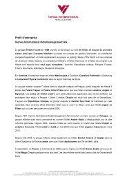 Profil d'entreprise Vienna International Hotelmanagement AG