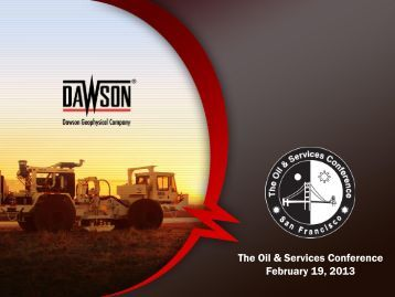 The Oil & Services Conference February 19, 2013 - EnerCom, Inc.