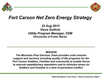 Fort Carson Net Zero Energy Strategy - Directrouter.com