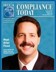 Meet Brian Flood - Health Care Compliance Association